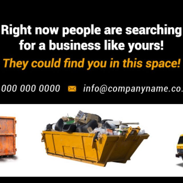 Advertising for skip hire